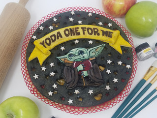 Yoda One For Me Pie Art Tutorial is LIVE