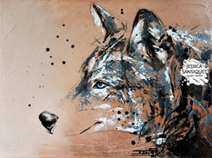 Le loup à l'oeil bleu