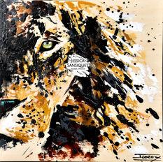 Lion de bois