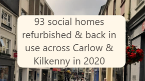 93 Carlow and Kilkenny social homes have been refurbished and are back in use