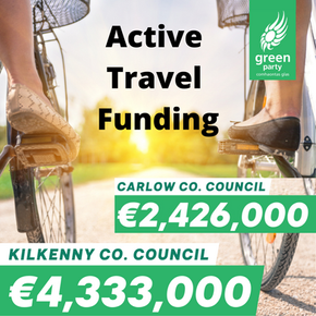 Active Travel Funding of €6.75m for Carlow and Kilkenny announced by Minister Noonan