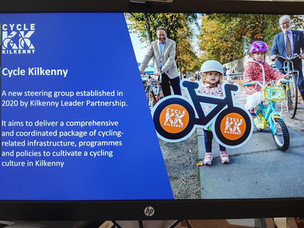 Minister Noonan addresses webinar on cycling in Kilkenny