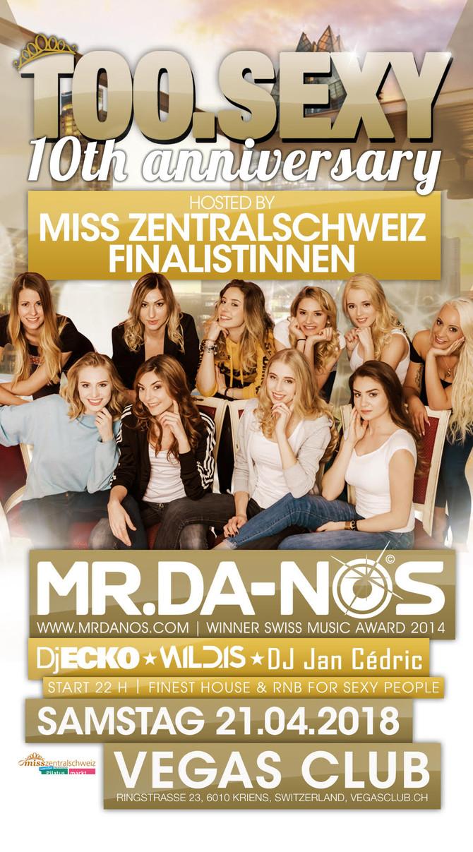 Am 21.4.18 übernehmen die Miss Zentralschweiz Kandidatinnen für eine Nacht den VEGAS Club
