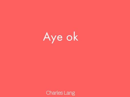 Review: Charles Lang's Aye ok (2020)
