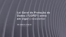 """Lei Geral de Proteção de Dados (""""LGPD"""") entra em vigor"""