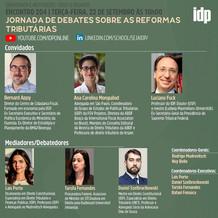 Webinar | Jornada de debates sobre as reformas tributárias