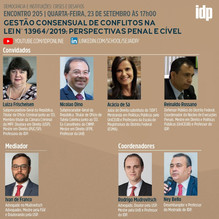 Webinar | Gestão consensual de conflitos na Lei n° 13964/2019: perspectiva penal e cível