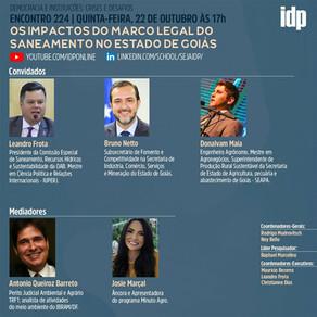 Webinar | Os impactos do marco legal do saneamento no estado de Goiás