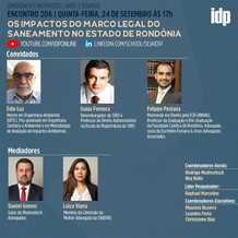 Webinar | Os impactos do marco legal do saneamento no Estado de Rondônia
