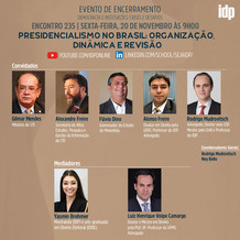 Webinar | Presidencialismo no Brasil: organização, dinâmica e revisão