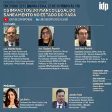 Webinar | Os impactos do marco legal do saneamento no estado do Pará