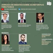 Webinar | Jornada de debates sobre as Reformas Tributárias (15/9)