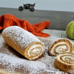 Easy Pumpkin Swirl Roll Cake