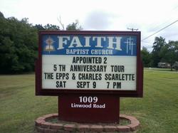 Faith Baptist sign