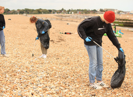 Beach Cleaning on Hayling Island
