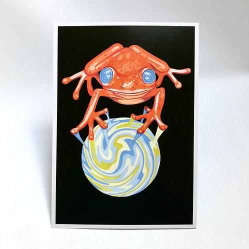 Hypnotic Frog Print