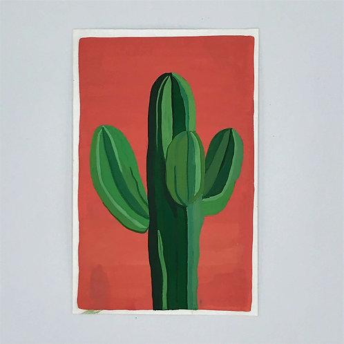 Minimal Cactus Painting