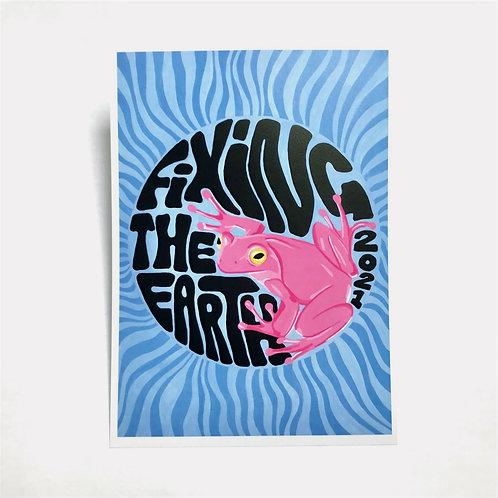 Frog Wave Print