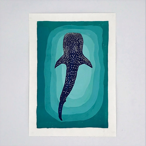 Whale Shark painting