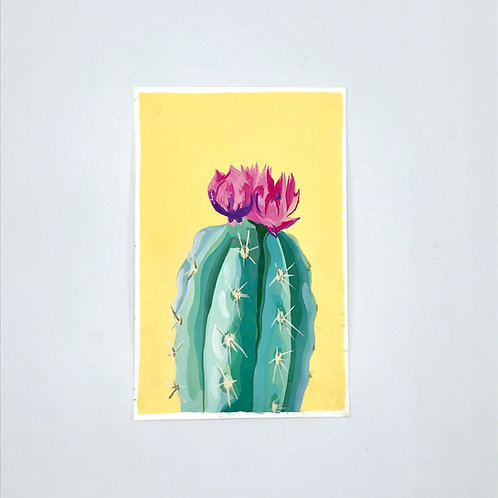 Yellow Gouache Cactus