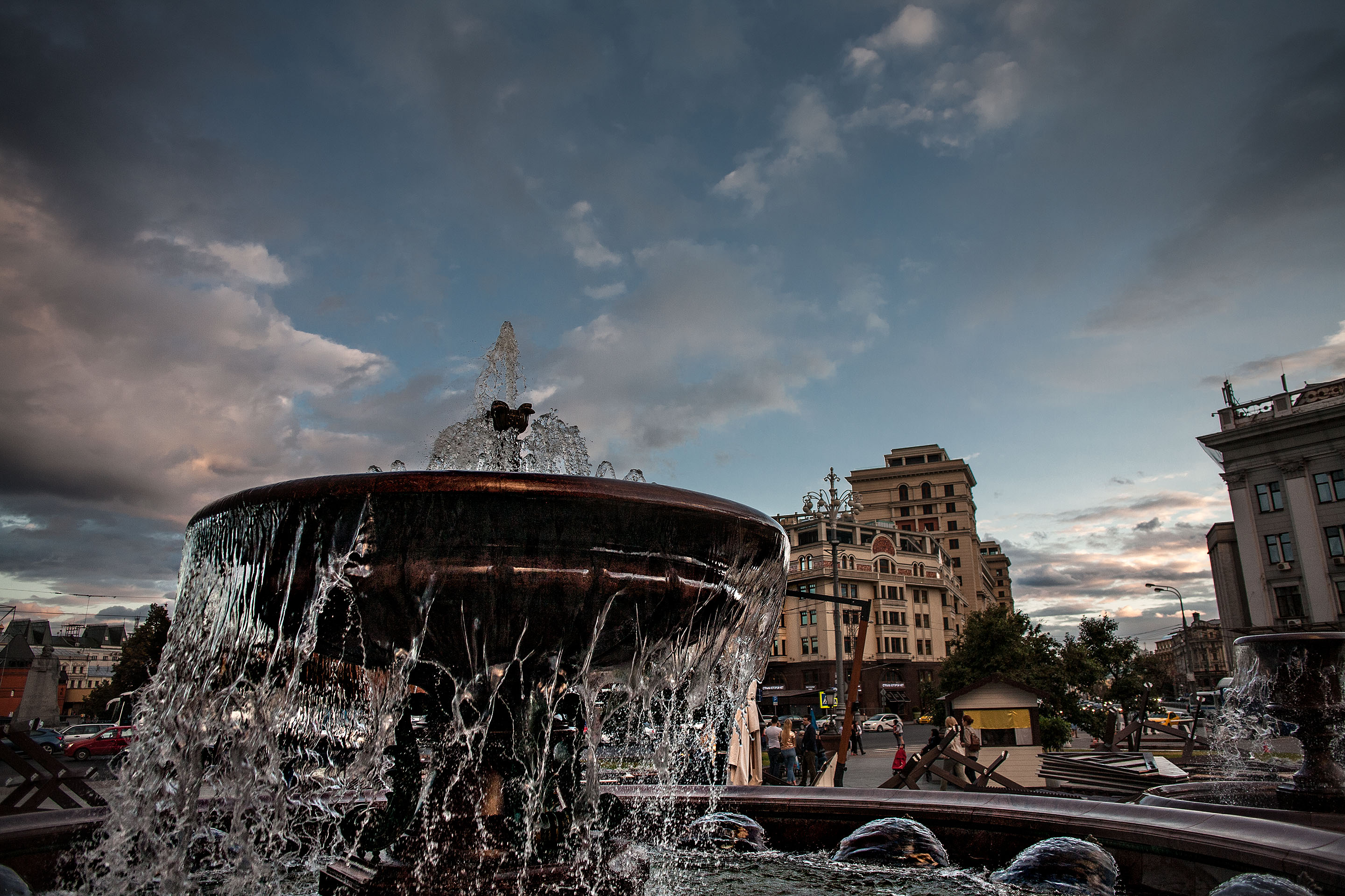 Bolshoi theater fountain, Moscow