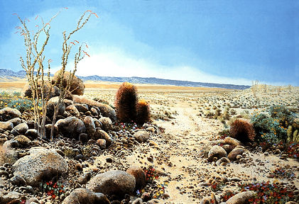 Rattlesnake Canyon 76 x 114 inches by John Weidenhamer
