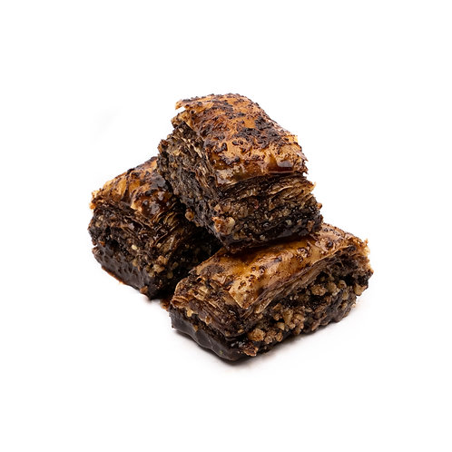 Baklava with walnuts & chocolate, 3 slices (120 g)
