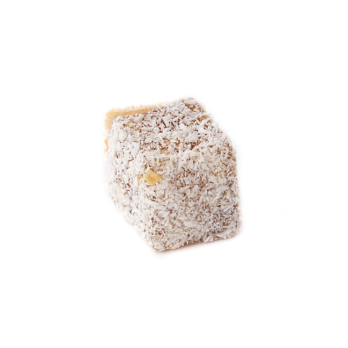 Lokum, stuffed with with walnuts & covered with coconut (1pc)