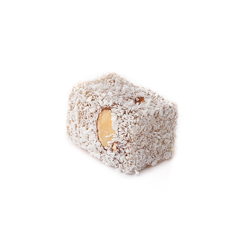 Lokum, stuffed with almonds & covered with coconut (1pc)
