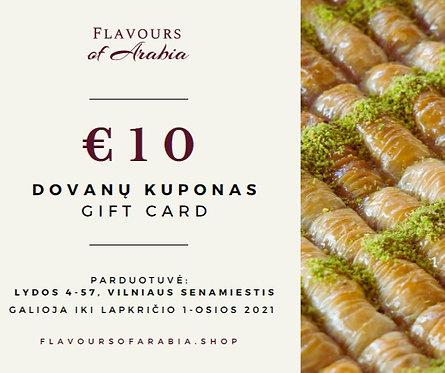 Gift Card | 10 Eur