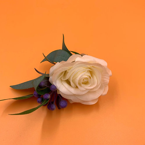 Groom Boutonniere - White