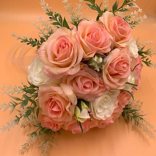 Bridal Bouquet - Peach & White