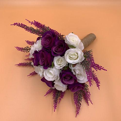 Bridal Bouquet - Purple & White
