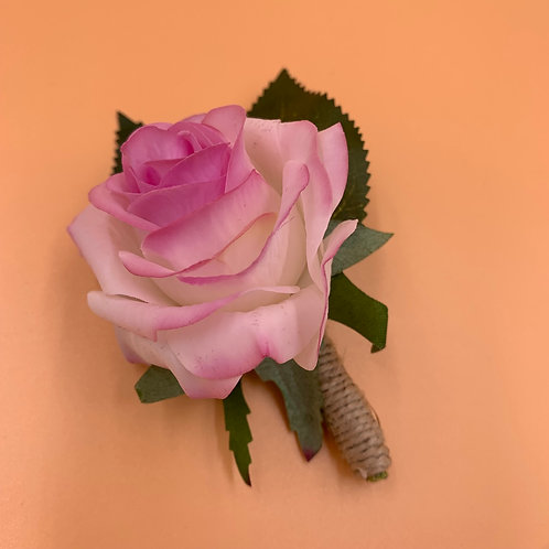 Groom Boutonniere - Pink