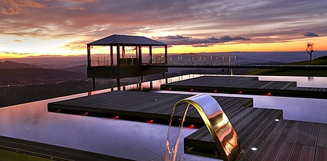 5 star hotel terrace using composite decking WPC