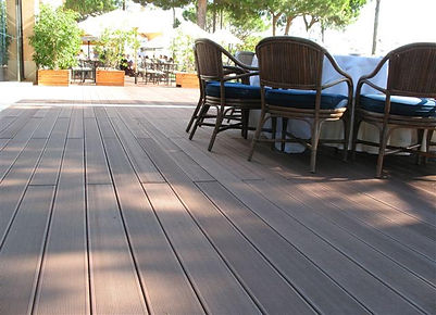 Boards of compostite decking with many lenghts