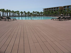 Absortion wood composite decking