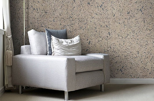 Fascinating walls with the comfort of cork - interior decoration