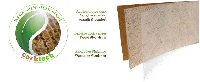 Sheets of cork walls - warm and silence