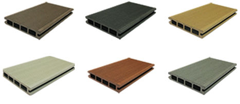 Wide variety of beautiful color options in composite decking