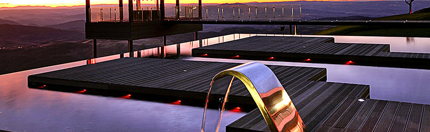 hotel in europe using composite wood decking
