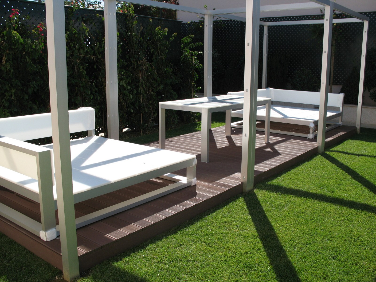 Pergola and handrail system in WPC