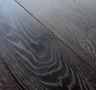 Dark hardwood flooring detail