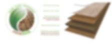 Genuine cork veneer engineered