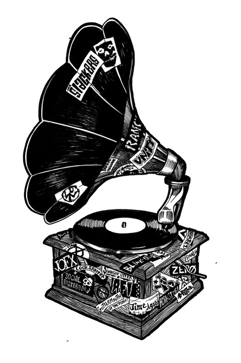 Punk Rock Record Player