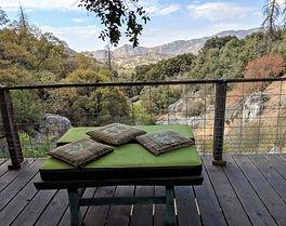CHS-bench on balcony overlooking mountai