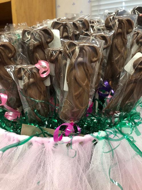 Ballerina slipper chocolate pop