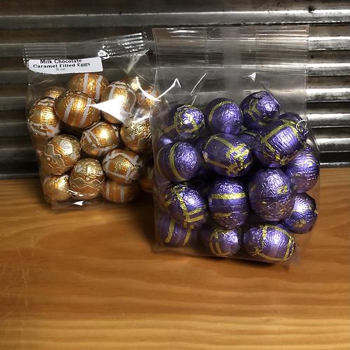 Caramel or Peanut Butter Foil-wrapped Eggs