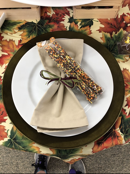 Decorated pretzel rods