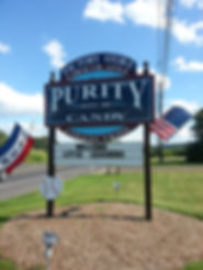 Purity Candy Factory Sign